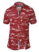 Chemise hawaïenne rouge de 2XL à 8XL