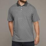Polo Fashion manches courtes gris clair 3XL - 8XL
