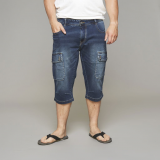 Jeans Capri bleu délavé de 44US à 62US