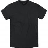 T-shirt Col en V noir de 2XL à 8XL