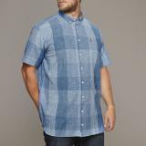 Chemise manches courtes Grands carreaux bleu de 3XL à 8XL