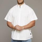 Chemise Replika blanche manches courtes 3XL à 8XL