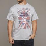 T-shirt manches courtes Rolling Stones gris chiné 2XL à 8XL