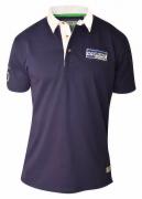 Polo jersey bleu marine Col boutonné de 3XL à 8XL