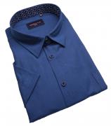 Chemise manches Courtes bleu marine de 3XL à 6XL