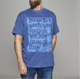 T-shirt manches courtes James Dean  bleu denim 3XL à 8XL