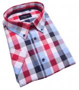 Chemise manches Courtes carreaux bleu rouge de 3XL à 6XL