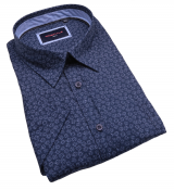 Chemise manches Courtes Motif Bleu de 3XL à 6XL