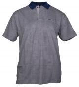 Polo jersey manches courtes Gris de 3XL à 6XL