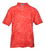 Polo manches courtes Rouge Corail