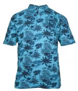 Polo manches courtes bleu turquoise