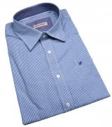 Chemise fantaisie manches longues petits carreaux bleu de 3XL à 8XL