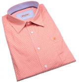 Chemise fantaisie manches longues petits carreaux orange de 3XL à 8XL