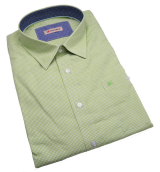Chemise fantaisie manches longues petits carreaux vert de 3XL à 8XL