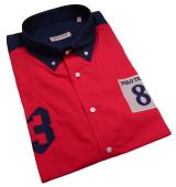 Chemise manches courtes Marine et Rouge de 3XL à 10XL