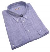 Chemise manches courtes bleue de 3XL à 8XL