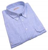 Chemise manches courtes bleu clair de 3XL à 8XL