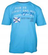 T-shirt manches courtes bleu azur 3XL à 8XL