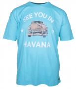 T-shirt manches courtes mélange de bleu turquoise 3XL à 8XL