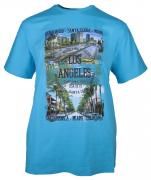 T-shirt manches Courtes bleu azur de 3XL à 10XL