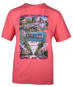 T-shirt manches Courtes Rouge Corail de 3XL à 10XL