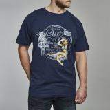 T-shirt manches courtes James Dean  bleu marine 3XL à 5XL