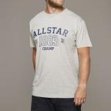 T-shirt manches courtes Mélange de gris clair 3XL à 8XL