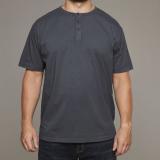 T-shirt col boutonné gris Charcoal de 3XL à 8XL
