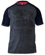 T-shirt manches courtes gris Charcoal de 3XL à 6XL