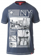 T-shirt manches courtes bleu denim de 3XL à 6XL
