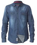 Chemise en jeans bleu délavé de 3XL à 8XL