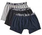 Pack de 3 Boxers bleu marine, gris et noir 3XL à 8XL