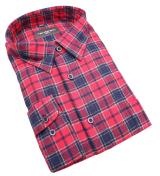 Chemise manches longues carreaux rouge bleu de 2XL à 5XL