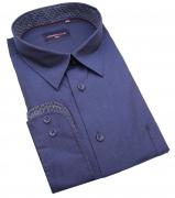 Chemise manches longues bleu marine de 3XL à 6XL