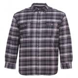 Veste chemise Canadienne Matelassée carreaux gris anthracite et blanc 3XL à 8XL