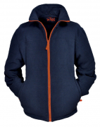 Polaire zippé bleu marine Orange de 3XL à 10XL