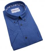 Chemise manches courtes bleu de 3XL à 6XL