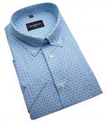 Chemise manches courtes bleu clair de 2XL à 5XL