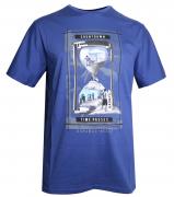 T-shirt manches courtes bleu de 3XL à 8XL