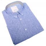 Chemise manche courte bleue de 3XL à 8XL