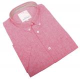 Chemise manche courte Rouge Corail de 3XL à 8XL