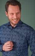 Chemise manches longue bleu marine de 3XL à 6XL