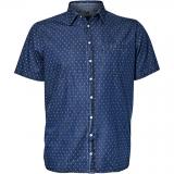 Chemise manche courte bleue indigo de 3XL à 8XL
