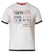 T-shirt manche courte Mélange de gris clair de 2XL à 8XL