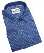 Chemise manches longue bleu de 3XL à 6XL