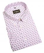 Chemise manche courte blanche avec motif  de 2XL à 5XL