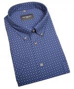Chemise manche courte bleu marine de 2XL à 5XL