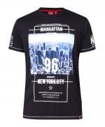 T-shirt manche courte noir de 3XL à 6XL