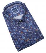 Chemise manche courte bleu marine de 3XL à 6XL