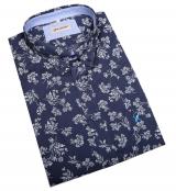 Chemise manche courte bleu marine de 3XL à 10XL
